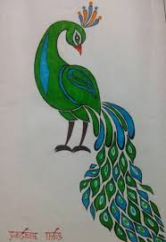 simple peacock drawing sketchpen drawing peacock simple beautiful