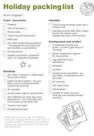 packing list template 5 useful packing checklists