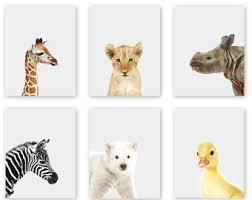 Woodland Animals Nursery Decor Baby Animal Nursery Prints Modern Minimalist Nursery