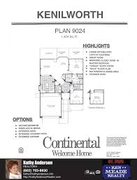 arizona traditions kenilworth floor plan model home plans