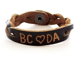 Bracelet With Initials Example Personalized Leather Bracelets