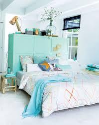 turquoise bedroom ideas with creative headboard my sweet house