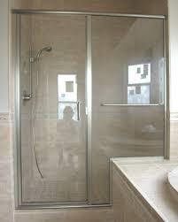 Bath Shower Door Great Frameless Bypass Shower Door Essence Sliding Unitframeless