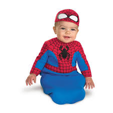 spiderman halloween costumes amazon com spider man bunting infant costume 0 6 mths clothing