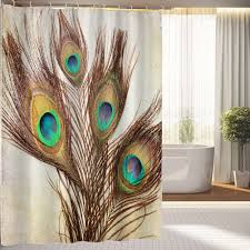 bathroom peacock shower curtain beautiful shower curtains