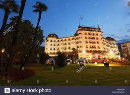 hotel palace stresa lago maggiore piedmont italy stock photo