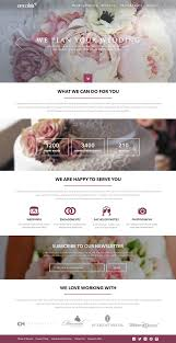 wedding planner website wedding planner free website template on behance