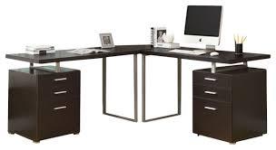 Monarch Specialties L Shaped Desk Computer Desk Cappuccino Monarch Specialties Cappuccino