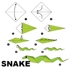 Origami Snake - safra feature reads easy diy new year zodiac