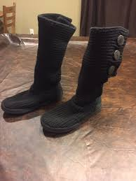 sweater boots with buttons boots