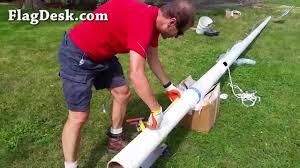 Commercial Flag Pole Flagdesk Com How To Install A Fiberglass Flagpole Youtube