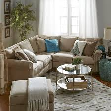 alton ecru 3 piece l shaped sectional living rooms decorating
