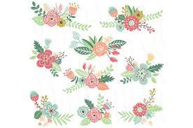 wedding flowers clipart wedding flower clip illustrations creative market