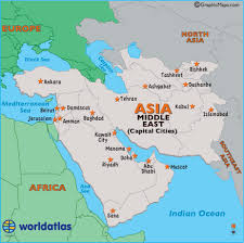 mid east map middle east capital cities map map of middle east capital cities