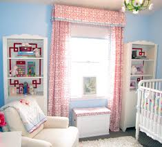 Pink And White Curtains For Nursery Curtain Curtains Elephant For Nursery Posifit Baby Curtain