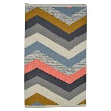 bathroom accent rugs nate berkus 2x3 multi chevron accent rug cool colors for a