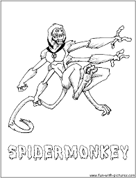 skeleton coloring 100 ideas ben 10 ultimate spidermonkey coloring pages on kankanwz com
