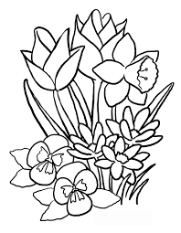 unbelievable design flower coloring pages kids spring flowers