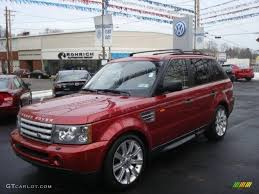 red range rover 2007 rimini red metallic land rover range rover sport supercharged