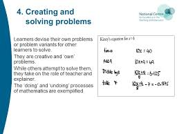 creating and solving problems