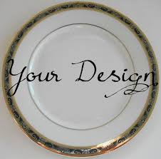 personalized dinnerware customized black and gold dishes personalized plates