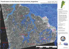 Buenos Aires Map Flood Waters In The Buenos Aires Province Argentina August 16th