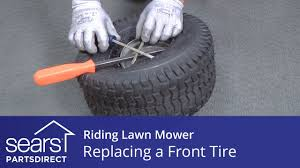 replacing a front tire on a riding lawn mower youtube