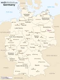 Labeled Map Of Europe by Map Of Germany With States U0026 Cities World Atlas Book