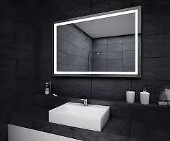 Battery Operated Bathroom Mirrors Modern Mirror Zeppy Io