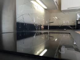 credence cuisine miroir crédence graffitis miroir fond dégradés de 2 couleurs
