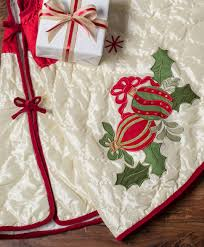 54 inch quilted holiday tree skirt tree classics