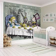 children s feature walls tea party wall mural