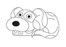 cute puppy coloring page stock vector image of black 94315429