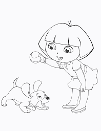 dora the explorer coloring pages dora and her puppy series