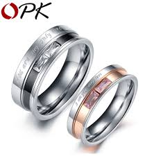 Stainless Steel Wedding Rings by Aliexpress Com Buy Opk Fashion Jewelry 316l Stainless Steel