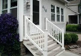 exterior stair rail aluminum deck railings fence railing ideas