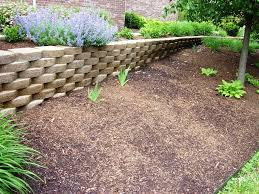 Concrete Block Garden Wall by Concrete Blocks Retaining Wall U2014 Jen U0026 Joes Design Purposeful