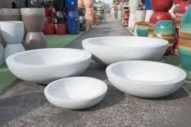 outdoor garden patio planter pot modstone round lightweight low