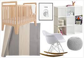pouf chambre enfant une chambre aux teintes neutres pour le bébé d elodie joli place