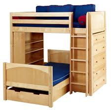 Top Wooden LShaped Bunk Beds WITH SPACESAVING FEATURES - Under bunk bed storage drawers