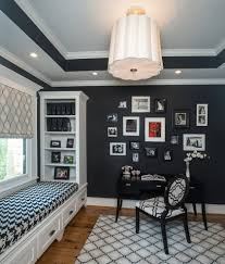 glorious black and white window treatment family room contemporary