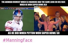 the awkward moment when eli manning had the same look on his face