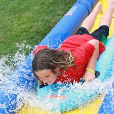 Water Slide Backyard by Inflatable Boat Dock Slide U2013 Float Mall