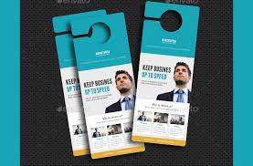 door hanger flyer template restaurant door hanger template