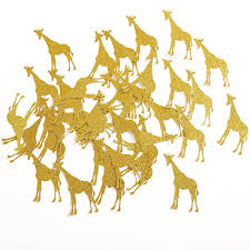 baby shower giraffe gold silver black glitter giraffe table confetti for baby shower