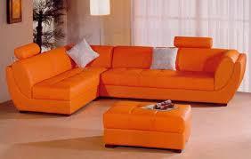 Orange Leather Sectional Sofa Orange Leather Sectional Sofa Ezhandui