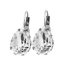 teardrop diamond earrings or jewelry teardrop swarovski diamond earrings israeli