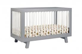 Universal Bed Rail For Convertible Crib by Hudson 3 In 1 Convertible Crib With Toddler Rail In Grey White M4201gw