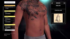 nba 2k16 how to put tattoos on your myplayer