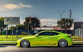 hyundai genesis stance hyundai genesis coupe stance tuning green cars